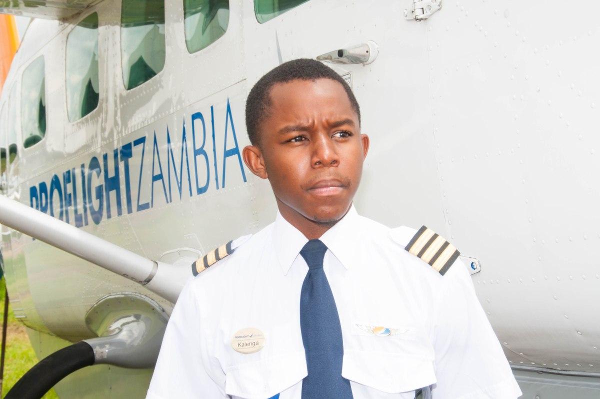 Kalenga Kamwendo is Zambia's youngest pilot
